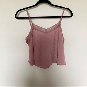 Silky Pink Cropped Tank